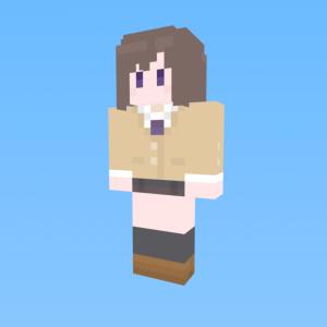 Minecraftスキン配布:宇佐美奈々子(普通の女子校生が【ろこどる】やってみた。)